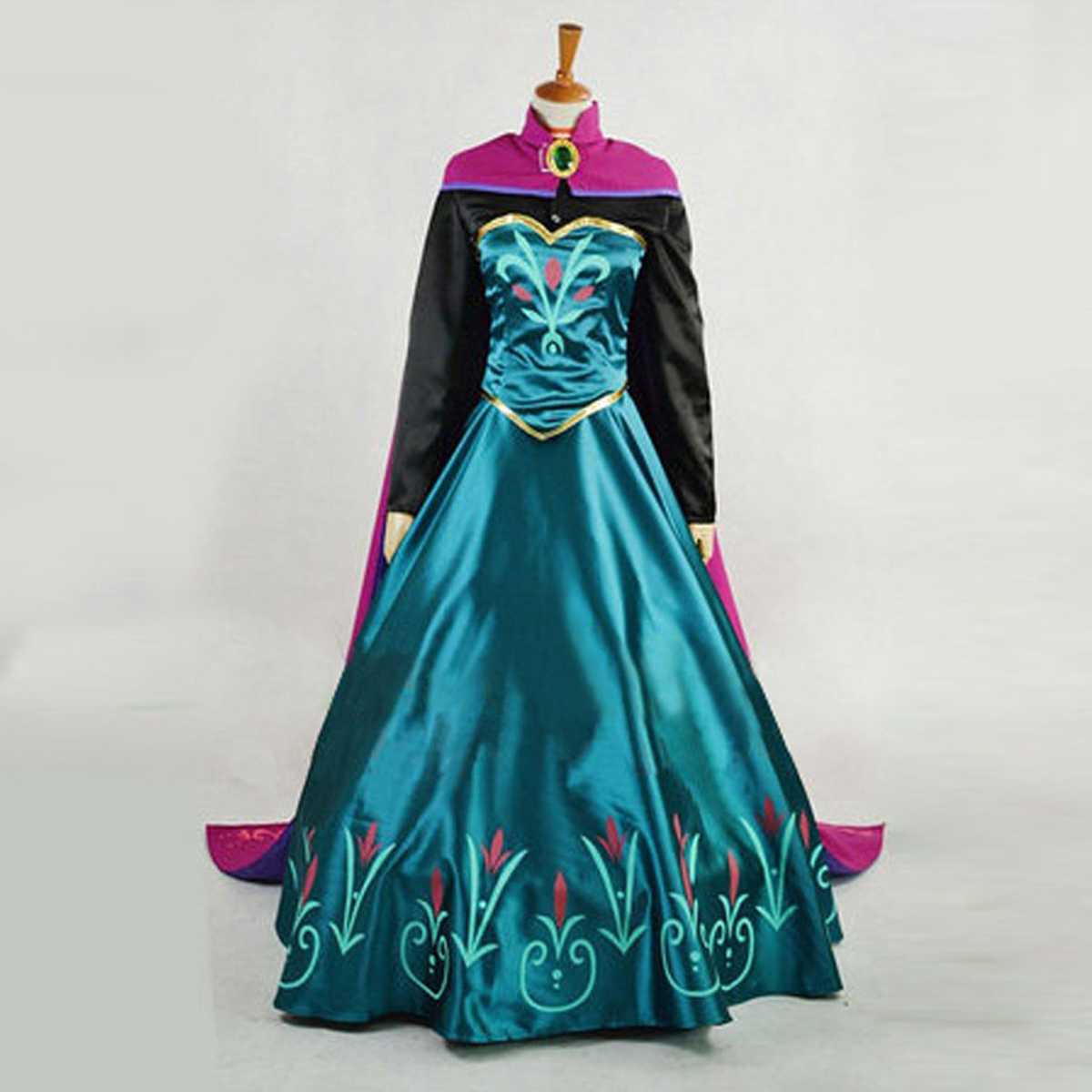Frozen Princess Anna Dress Cloak